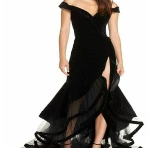 Black Mac Duggal Gown